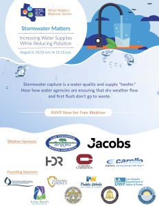 Thumbnail-sized image of the flyer advertising Stormwater Matters webinar.