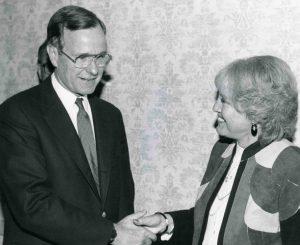 George H.W. Bush and Harriett Wieder