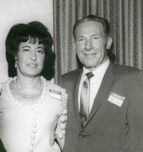 Photo of Harriett Wieder and Sam Yorty