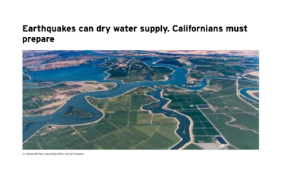 Earthquakes Can Dry Water Supply. Californians Must Prepare