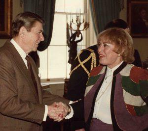 Ronald Reagan and Harriett Wieder